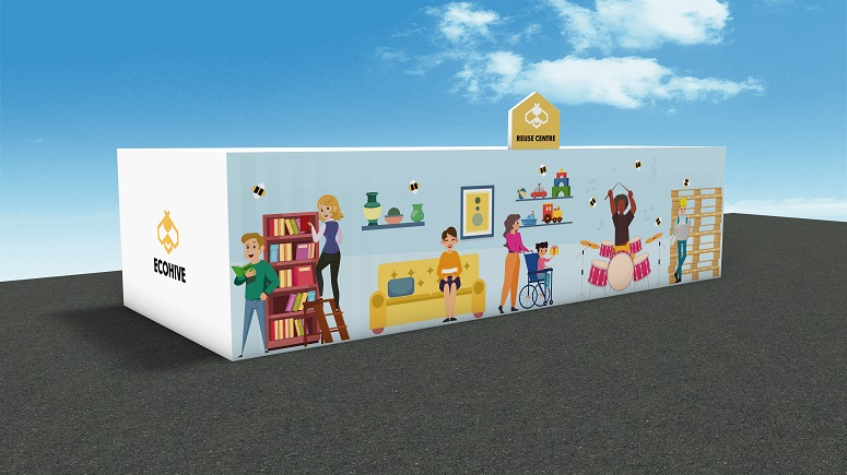 Design of Reuse Centres which are to open later this year, revealed